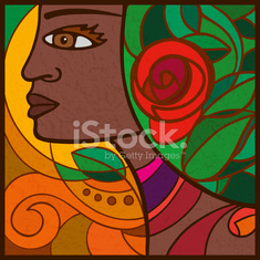 Portrait of a girl from Cape Verde, Africa