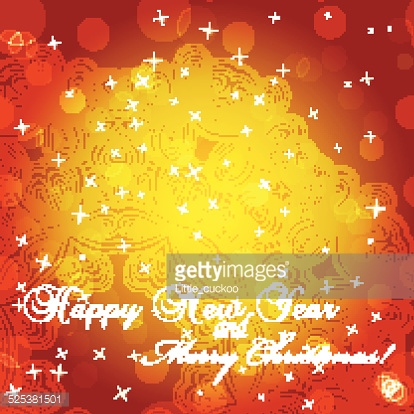 New Year greeting card. Congratulations on Christmas.