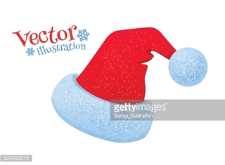 Santa Claus hat. Vector Illustration. isolated.