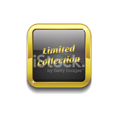 Limited Collection Gold Vector Icon Button