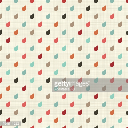 seamless retro pattern with colorful drops