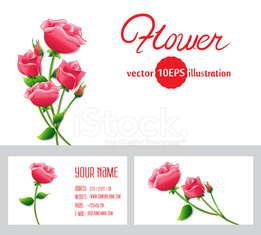 Templates with roses paper flowers background. Vector 10 EPS