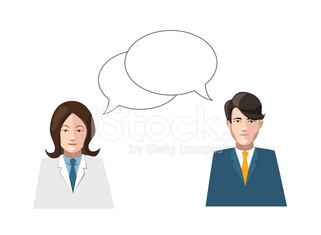 dialogue men and women flat vector illustration on white
