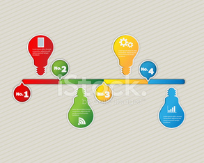 Colorful Light Bulb Time Line Infographic