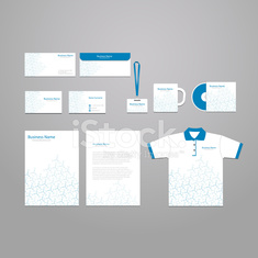 Vector stationery corporate identity template