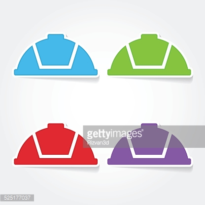 Helmet Colorful Vector Icon Design