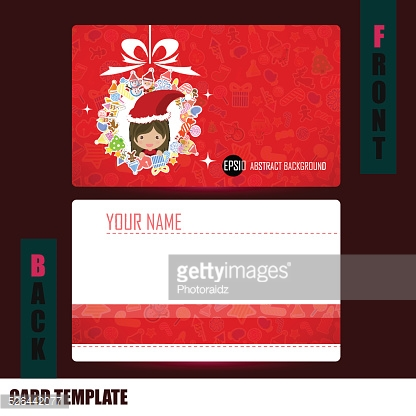 Modern girl santa christmas background triangle template Busines