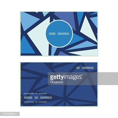 Vector abstract ice chrystals vertical round frame pattern business cards