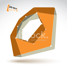 3d mesh colorful polygonal abstract object isolated