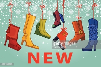 Fashionable colored women's boots,shoes.New