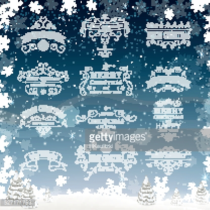 Vector Christmas Labels