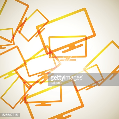abstract background: monitor