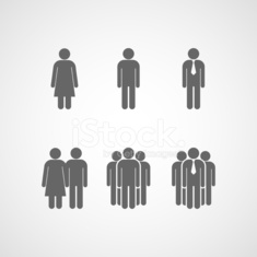 vector icons with people signs