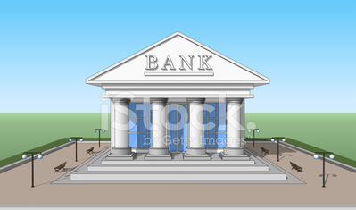 Bank, front view 02