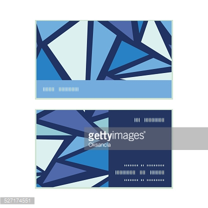 Vector abstract ice chrystals horizontal stripe frame pattern business cards