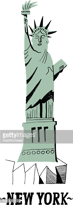Statue of Liberty in the City of New York, USA