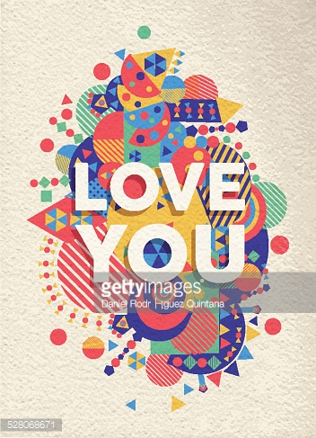 Love you quote poster design