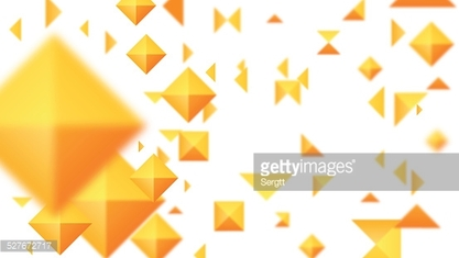 Abstract Orange Square On A White Background