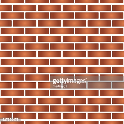 simple red and orange brick wall seamless pattern eps10