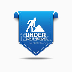 Under Construction Blue Vector Icon Design
