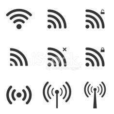 Set Of Wi-Fi And Wireless Icons. WiFi Zone Sign.