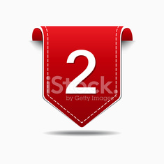 2 Number Vector Red Web Icon