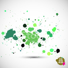 Abstract Artistic Background of Watercolor Paint Splash, Vector