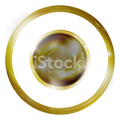 Golden round design elements illustration