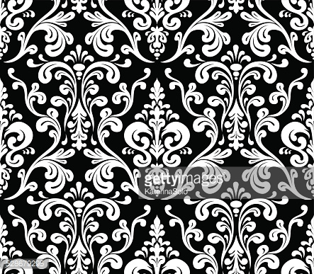 Vector. Seamless elegant damask pattern