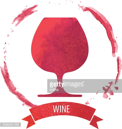 wine stain circle in red tones