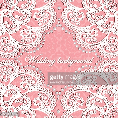 background wedding with lace and pearls