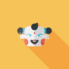 Chinese New Year flat icon with long shadow.eps10