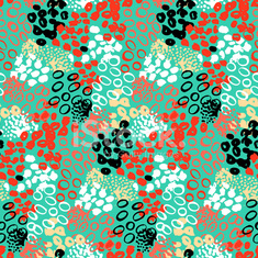 Hand painted vector pattern with splatters