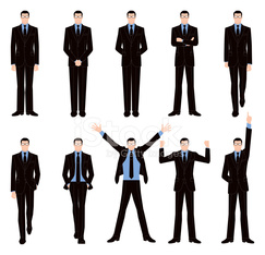 Front pose of businessman