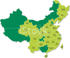 Map of China – Highlight 23 Province