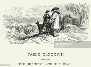 La Fontaine's Fables - Shephard and the King