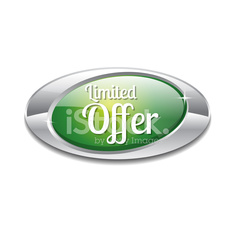 Limited Time Offer Green Vector Icon Button