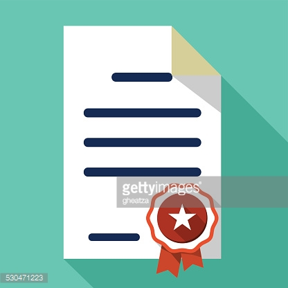 Vector Flat Certificate Icon