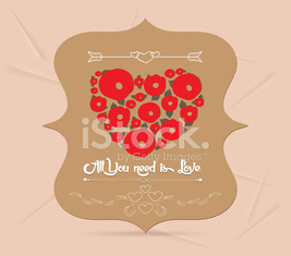 happy valentine greeting card