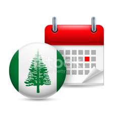 Icon of National Day on Norfolk Island