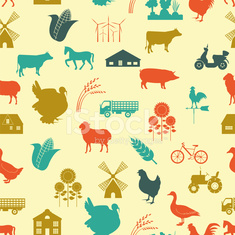 Agriculture background, seamless