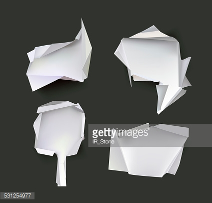 Paper origami backgrounds