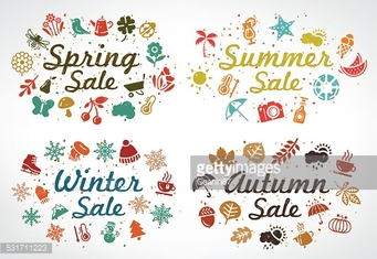 Collection of all season beautiful sale tags