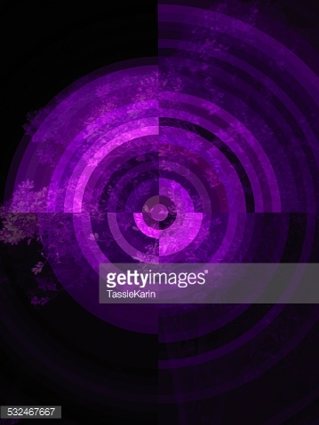 Purple target shape with tree background