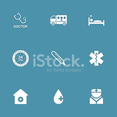 Hospital Health Vector Icon Design Set 2