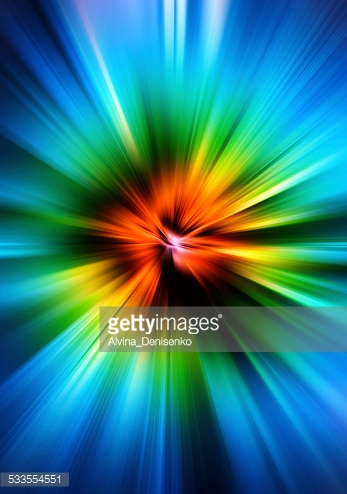 Abstract blurred background with rainbow gradient.