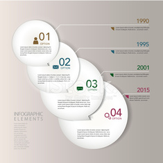 modern abstract paper circle infographic elements