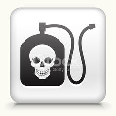 Square Button with Terminator Chemicals royalty free vector art