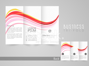 Professional trifold brochure, template and flyer.