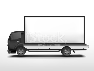 blank delivery truck